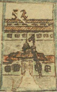 De poort van kamp Tangerang, getekend door de moeder van Anne-Ruth in het ganzenbord